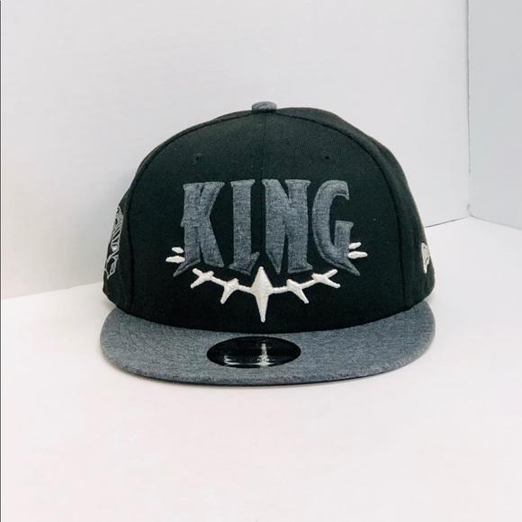 2599caee5 New era black panther SnapBack hat NWT